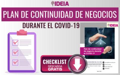 CHECKLIST Plan de continuidad de negocio durante el COVID-19